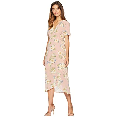 Bardot Floral Wrap Dress (Sunset Print) Women