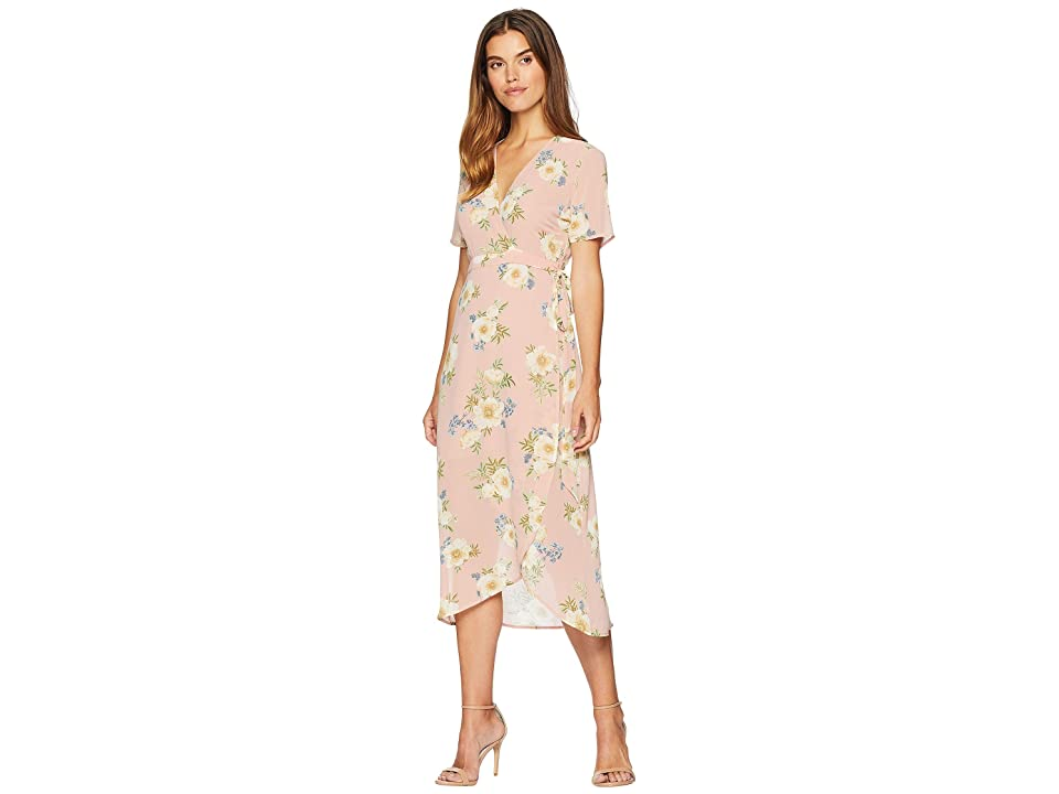 Bardot Floral Wrap Dress (Sunset Print) Women