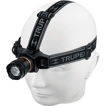 Truper LI-CA-120R, Linterna de cabeza recargable, aluminio, 120 lúmenes, LED Cree alta luminosidad
