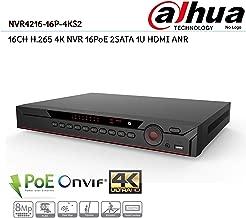 NVR4216-16P-4KS2 16CH 4K & H.265 Lite Network Video Recorder 200Mbps 1U 16PoE 4CH Alarm 2SATA HDMI IP NVR DVR Surveillance System