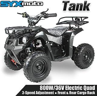SYX MOTO 36V 800W Tank Kids Mini ATV Dirt Quad Electric Four-Wheeled Off-Road Ride on Vehicle, 5-7.5-12.5mph, with Reversi...