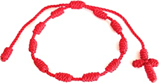 red bracelet with cross