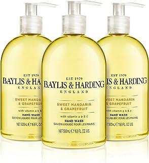Baylis & Harding - Sweet Mandrin En Grapefruit Handwas, 3 X 500 Ml, (Verpakking Kan Variëren).
