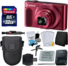 Canon PowerShot SX620 HS Digital Camera (Red) + Transcend 32GB Memory Card + Point & Shoot Camera Case + Card Reader + Card Wallet + Cleaning Kit + Screen Protectors + Tripod - Deluxe Accessory Kit