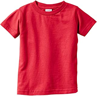 Rabbit Skins Baby Boys Fine Jersey Ribbed Collar T-Shirt
