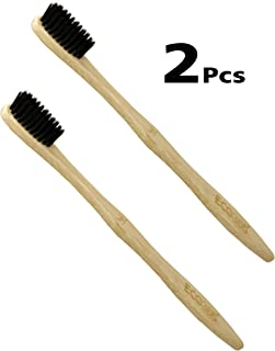 ECO365 Bamboo Toothbrush with Charcoal Infused Bristle- 2PC
