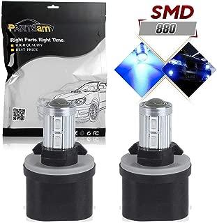 Partsam 880 892 893 899Partsam 880 892 893 899 Fog Driving Lights LED Light Bulbs Ultra Bright 10-5730-SMD Blue LED Lamps (Set of 2)