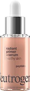 Neutrogena Healthy Skin Radiant Booster Primer & Serum, Skin-Evening Serum-to-Primer with Peptides & Pearl ...