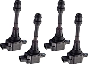 Pack of 4 Ignition Coils for 2002-2008 Nissan Altima Sentra X-Trail - 2.5L - UF350 22448-8H315 22448-8H310 C1398 UF-350