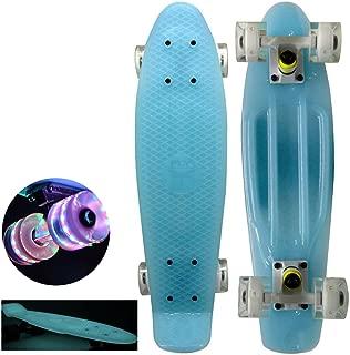 Brand new Blue with Unique Fun Wheels 22 Mini Retro Cruiser Skateboard - Complete Board,  Same Day Handling