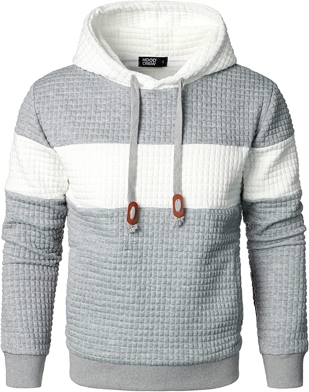 HOOD Rapid rise CREW Men's Sweatshirts Sleeve Ranking TOP8 Long Pullover Patchwork