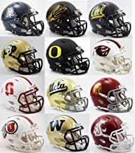 All 12 NCAA Pac-12 Conference Current Riddell SPEED Revolution Mini Helmets