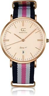 Gelfand & Co. Women's Minimalist Watch Pink/Navy Blue NATO Strap Vestry 36mm Rose Gold Dial