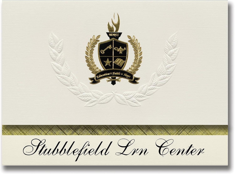 Signature Ankündigungen STUBBLEFIELD Learning Center (Lufkin, TX) Graduation Ankündigungen, Ankündigungen, Ankündigungen, Presidential Stil, Elite Paket 25 Stück mit Gold & Schwarz Metallic Folie Dichtung B0795XTD2G    | Haltbar  3f7b02