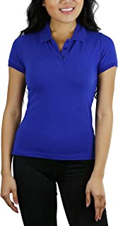 ToBeInStyle Women's Short Sleeve Classic Pique Polo Top
