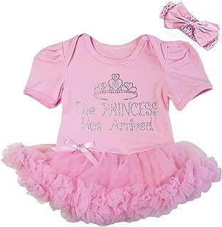 Baby The Princess Has Arrived Bodysuit Tutu and Headband Set