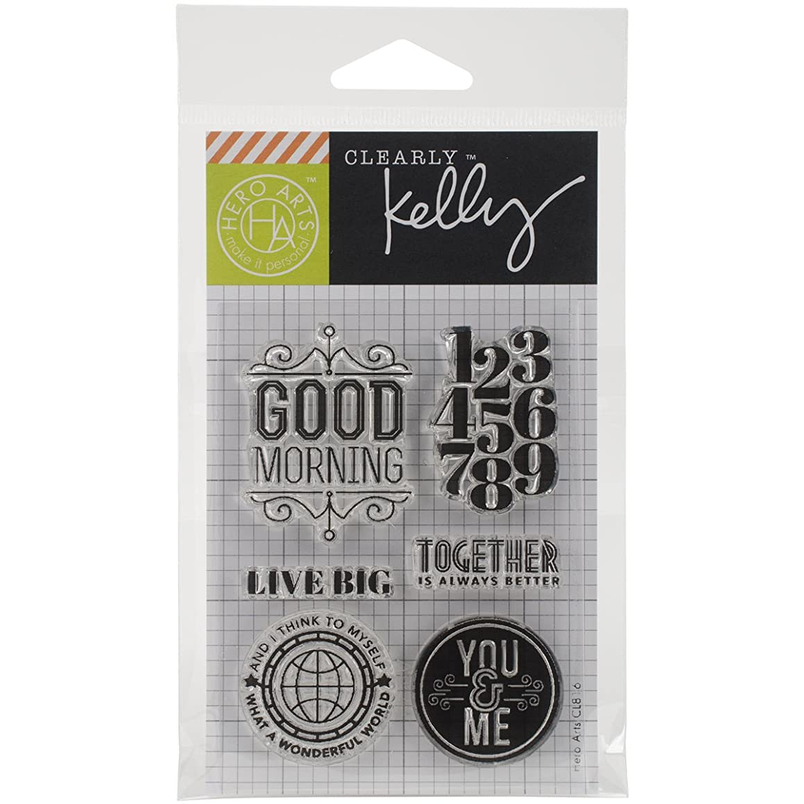 Hero Arts Kelly's Live Big Stamp Set, Clear