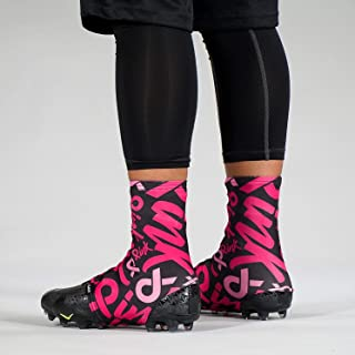 2019 Pink Ribbon Pattern Spats/Cleat Covers