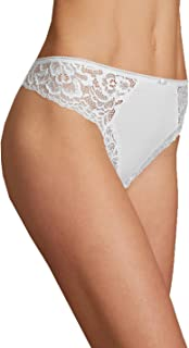 4d3fcb600a3a Ladies Marks & Spencer M&S Collection White Lace Side Microfibre Thong ...