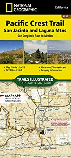 Pacific Crest Trail: San Jacinto and Laguna Mountains [San Gorgonio Pass to Mexico] (National Geographic Topographic Map Guide)
