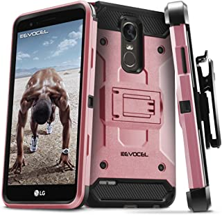 LG Stylo 3 Case, Evocel [Trio Pro Series] Textured Body, Multiple Layers, Kickstand for LG G Stylo 3 (2017 Release), Rose Gold (EVO-LGSTYLO3-HH25)