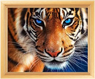 Adarl 5D DIY Diamond Painting Rhinestone Pictures of Crystals Embroidery Kits Arts, Crafts & Sewing Cross Stitch Tiger