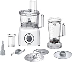 Bosch MCM3200W compacte keukenmachine, 800 W, 2,3 L, SmartStorage, wit/grijs