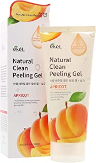 Ekel Natural Clean Peeling Gel With Apricot and Green Tea Extract - Exfoliates, Moisturizes & Brightens - Removes Impurities for Naturally Healthy, Glowing Skin, 6.09 oz