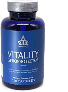 Vitality Geroprotector - Enhance Blood Sugar & Cell Function for Better Aging - Premium Natural Geroprotector Supplement: Berberine, Milk Thistle, Blueberry (Anthocyanin), Coenzyme Q10 (CoQ10)