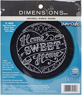 Dimensions ''Home Sweet Home'' Embroidery Kit for Beginners, 6'' D