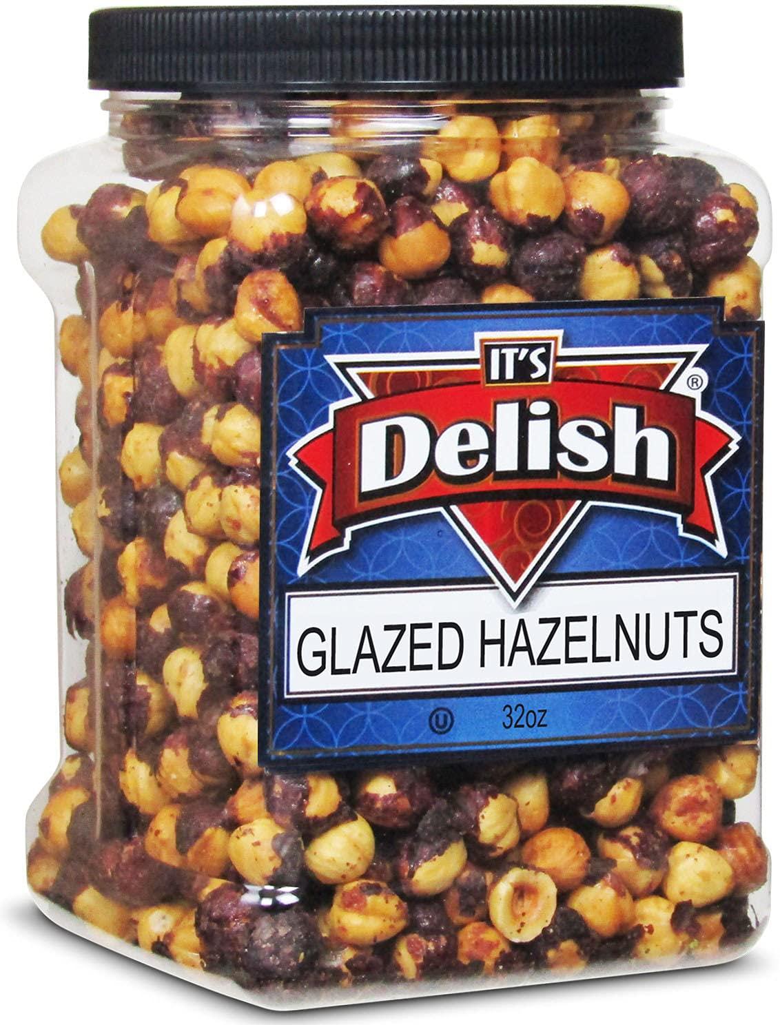 Gourmet Glazed Hazelnuts by Its Delish Con Jumbo Reusable 30 Ranking TOP18 Oz Import