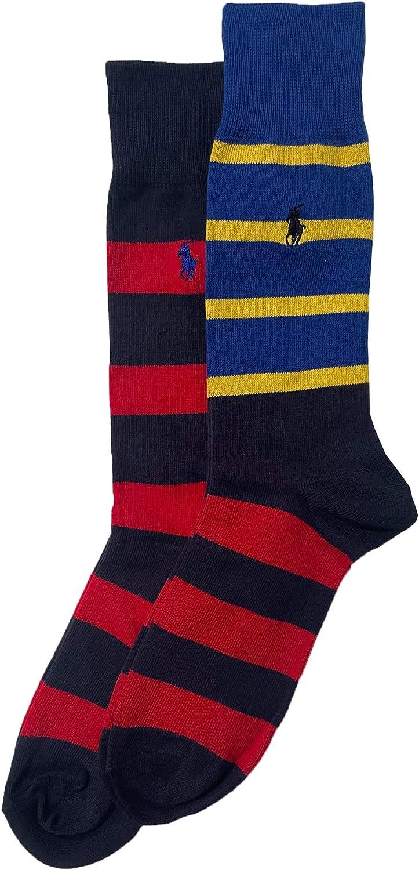 Polo Ralph Lauren Men's Striped Trouser Sock 2-Pack