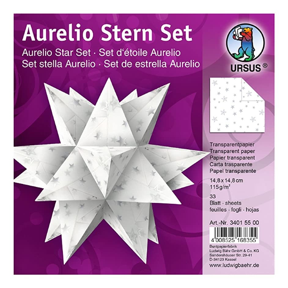 Ursus Aurelio Star 34015500?–?Folding Tracing Paper 14.8?x 14.8?cm, White