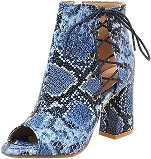 FANIMILA Women Western Block High Heels Bootie Sandals