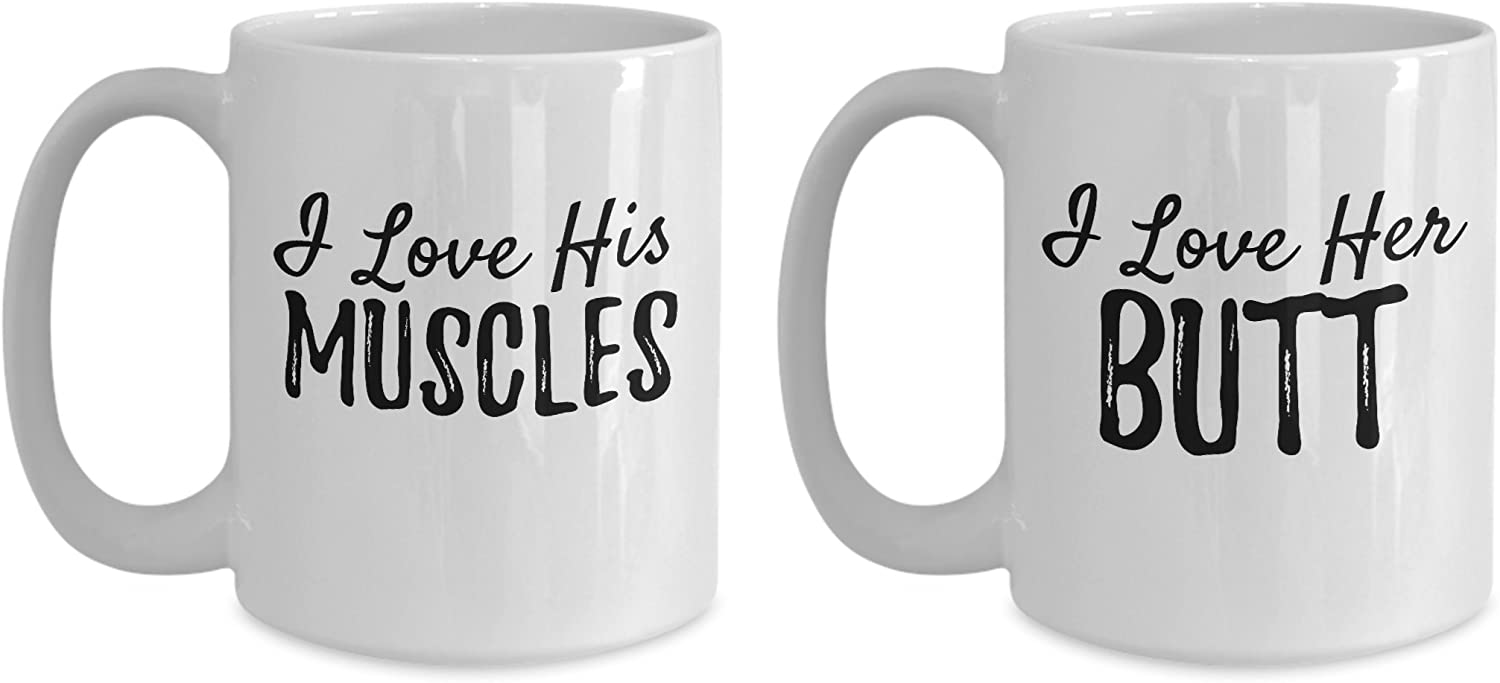 Love Ranking TOP10 Her Butt His Muscles Coffee Mugs Romantic Two Set F - Ranking TOP14 of