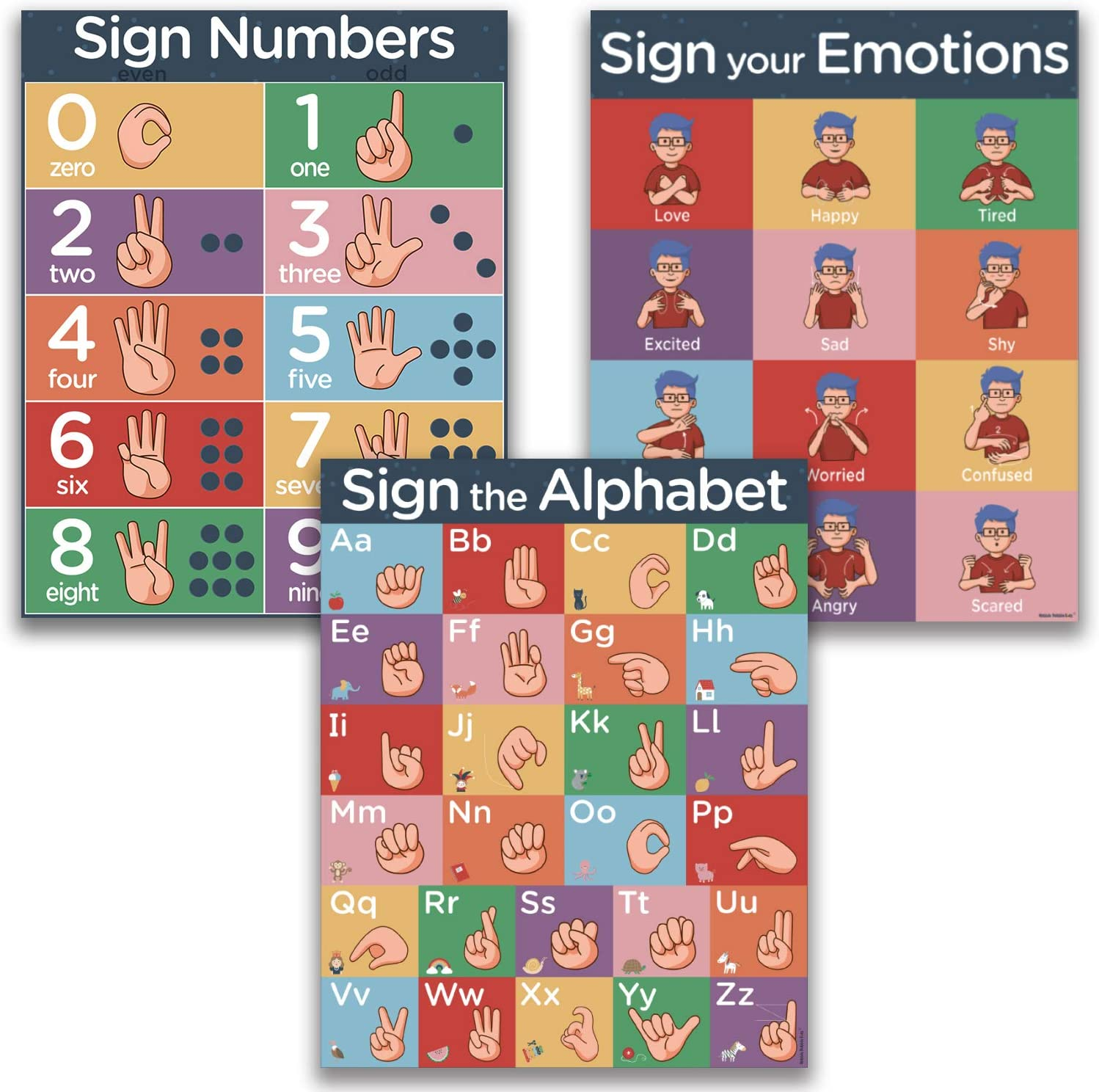 ASL Kids Sign Language Posters - 5% OFF 3 Each Starter Pack Pack. P Max 49% OFF
