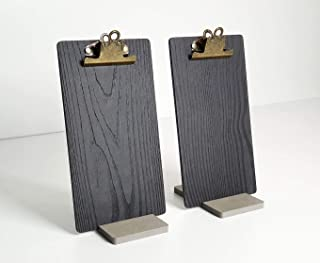 wood clipboard stand