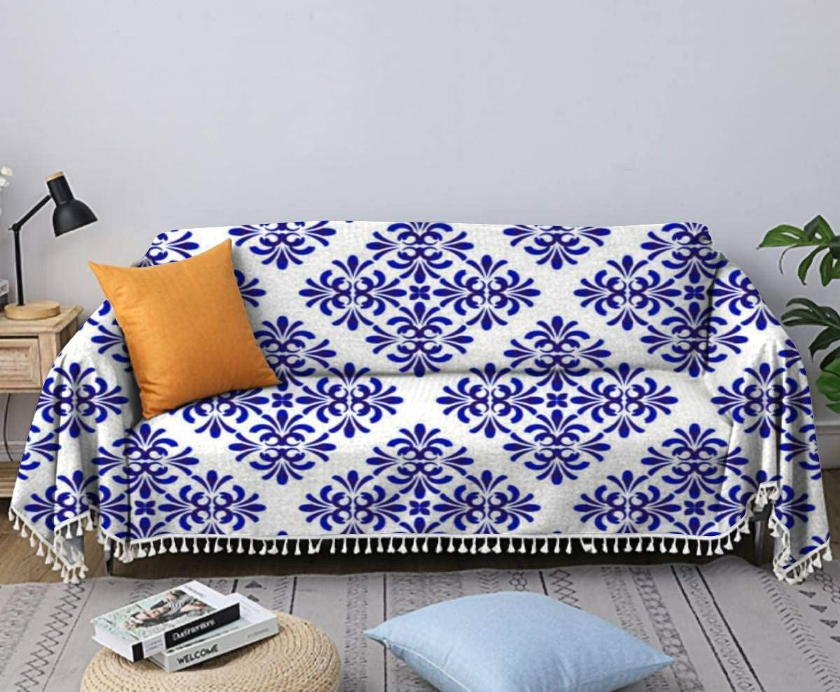 Blue Floral Decorative All items free shipping Pattern Luxury Stock Illustration Sofa Towel Cov