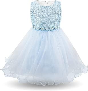 Baby Girls Dress Sleeveless Newborn Toddler Flower Girl Dresses for Kids Children Birthday Wedding Party