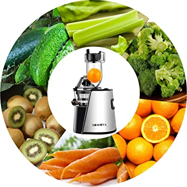 Masticating Juicer Cold Press Slow Juice Extractor Easy to Clean Extraction Creates Fruit Juice Machine, Quiet Motor and Reve