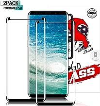 Gozhu [2-Pack] Galaxy S9 Plus Screen Protector Tempered Glass,[Anti-Fingerprint][No-Bubble][Scratch-Resistant] Glass Screen Protector for Samsung Galaxy S9 Plus