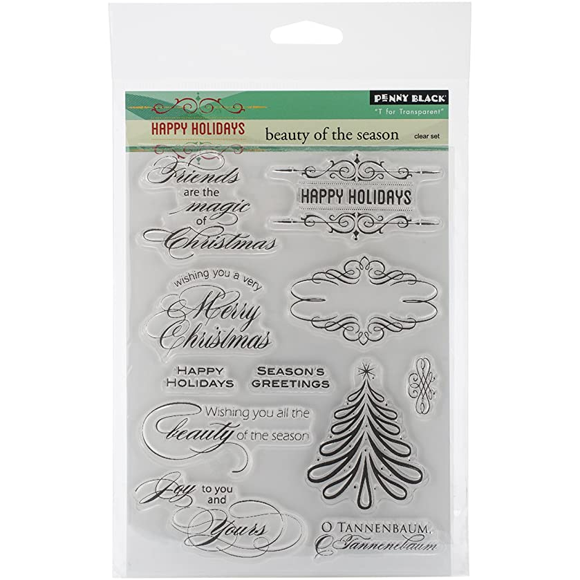 Penny Black 30-254 Decorative Rubber Stamps, Beauty of The Season