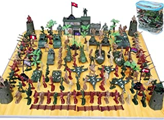 146 PCS Army Soldiers, Battle Group Army Man Toy Soldiers Playset Action Figures Game