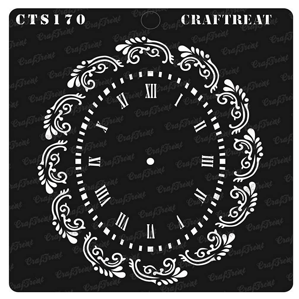 CrafTreat Stencil - Oval Doily | Reusable Painting Template for Notebook, Home Decor, Crafting, DIY Albums, Scrapbook, Decoration and Printing on Paper, Floor, Wall, Tile, Fabric, Wood 6