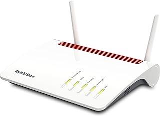 AVM FRITZ!Box 6890 LTE International - Modem Router LTE, VDSL, ADSL2+, WiFi AC MU-MIMO, Mesh, WAN Gigabit, 4 x LAN Gigabit, USB 3.0, centralita telefónica, VoIP, base DECT, interfaz en Español