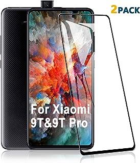 SCL Xiaomi Mi 9T Pro / 9Tガラスフィルム Redmi K20 / K20 Pro,[2枚セット] Xiaomi 9T / Redmi K20 / K20 Pro 用強化ガラス 液晶保護フィルム, 全面覆う/9H高硬度/高透過率/気泡ゼロ/自動吸着,黒