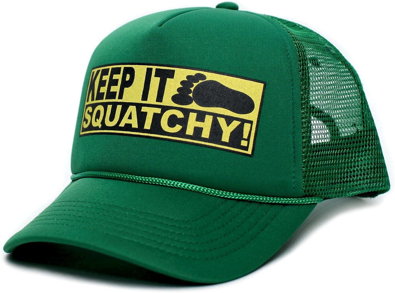 Custom Keep It Squatchy Bobo Adult Truckers Hat Cap Kelly Green