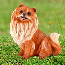 Animal Dog Shape Lawn Figurine Resin Resin Figurine, Garden Decor, Craft Ornament Plant Decoration for Garden Patio