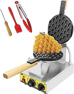 CGOLDENWALL Machine à Gaufres à Bubble Waffle Électrique Anti-adhésive 0-300°C Réglage de La Température I Minuterie 0-5 M...