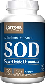 Jarrow Formulas SOD Superoxide Dismutase Antioxidant Enzyme, 20 mg Veggie Caps, 60 Count